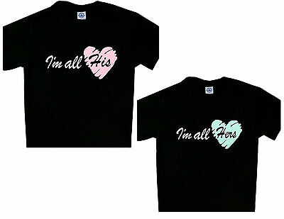 aab75d76f HIS BEAUTY HER Beast Set t'shirt Cool Couple Tee love matching tees ...