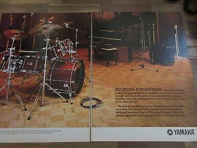 Yamaha Drums - Drummer Designed - 2-Page 1987 Magazine Print Ad