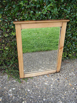Fabulous Vintage Original Old Pine Wood Wall/Bathroom Mirror