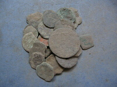 Lot Of 22 Ancient Roman Uncleaned Coins Low Quality 3