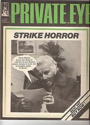 Private Eye Mag # 293  9 March 1973  British Gas BG Centrica & NHS Crisis Cover