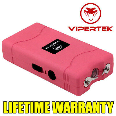 VIPERTEK PINK VTS-880 100 BV Mini Rechargeable LED Stun Gun