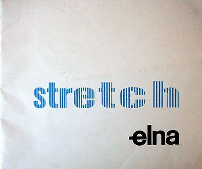 2nd Edition - STRETCH - Instruction Book from Elna Sewing Machines - GC