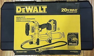 Dewalt DCGG571M1 20V Max Li-Ion Grease Gun Kit - NEW