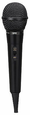 BRAND NEW QFX M-106 Unidirectional Dynamic Microphone w/ 10' Cable BLACK