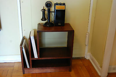 Vintage Antique 1930's Art Deco End Side Night Table Book Stand