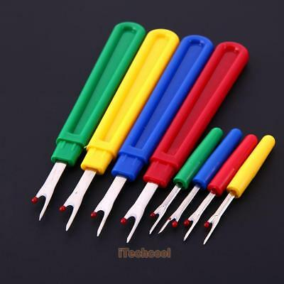8pcs Seam Ripper Stitch Unpicker Sewing Crafts Tool Plastic Handle Thread Cutter
