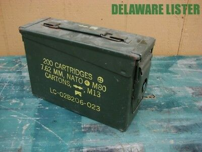 *US Military Army Vintage M13~M80•7.62•NATO•200 Cartridge•Ammo Can•Box Empty