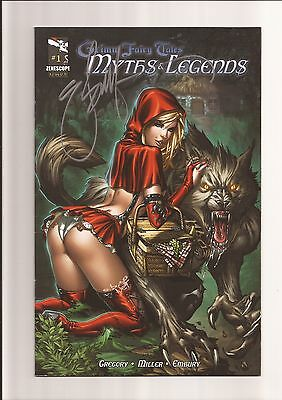 Grimm Fairy Tales: Myths & Legends #1B [1St Print] Vf/nm 9.0 Signed By Ebas 2011