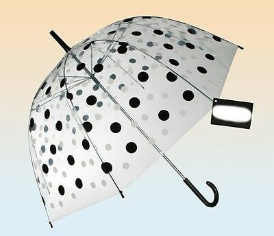 Umbrella Dome transparent,black white dots,Umbrella,Umbrella