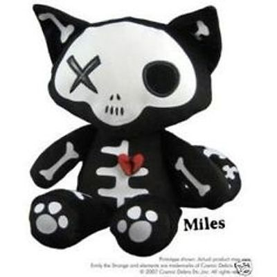 New! With Tags! Rare! Emily the Strange- Miles the Cat Glow in the Dark Plush !