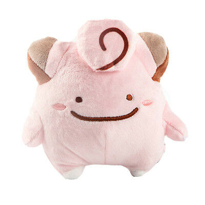 Fashion Pokemon Little Eyes Clefairy Ditto Soft Plush Stuffed Toy Gift 6in