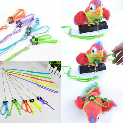 New Adjustable Anklet Soft Pigeon Leash Harness Rope Bird Chain Parrot Anti-bite
