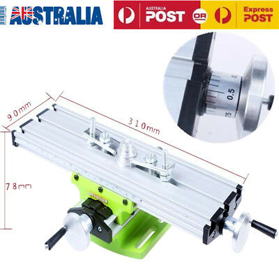 Precision Multifunction Milling Machine Adjustable Worktable Bench Drill Vise AU