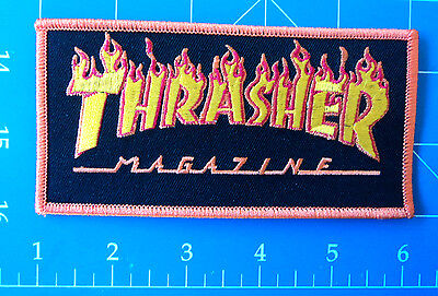 Thrasher Flames Big Logo Orange Patch, Dress Up Yo Raggedy Ass!