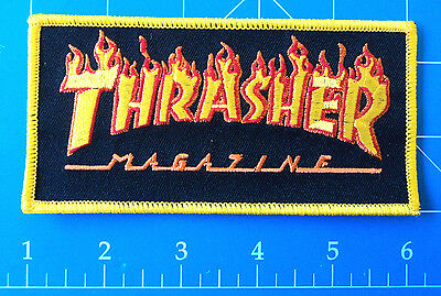 Thrasher Flames Big Logo Yellow Patch, Dress Up Yo Raggedy Ass!