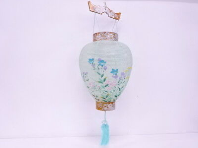 3081398: Japanese Handicrafts / Traditional Paper Lantern / Gifu Chochin / Flora