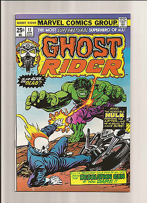 Ghost Rider #11 Nm- 9.2 Ghost Rdier Battles The Hulk! *bronze Age* 1975