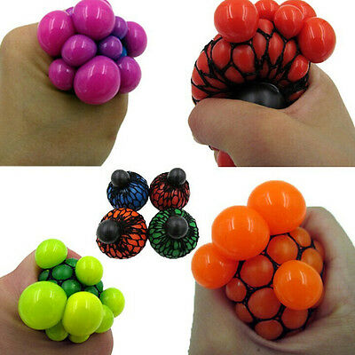 1PC Hot Anti Stress Face Reliever Grape Ball Autism Mood Squeeze Relief Toy GO/