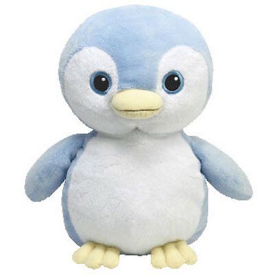 TY Pluffies - PETEY the Blue Penguin (8.5 inch) - MWMTs Stuffed Animal Toy