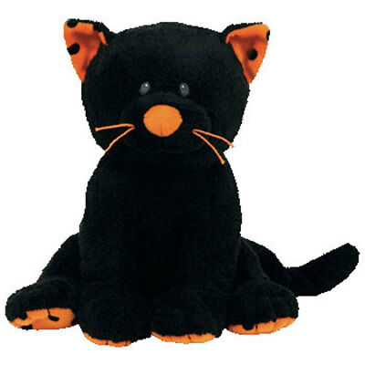 TY Pluffies - TRICKERY the Black Cat (8 inch) - MWMTs Stuffed Animal Toy