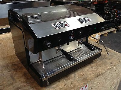 Espresso Coffee Machine Astoria Espressimo 2 Group Used Black No Mazzer Grinder