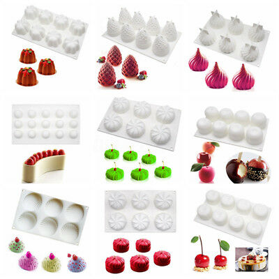 Silicone Fondant Cake Mold Dessert Mousse Chocolate Pastry Baking Tool Mould