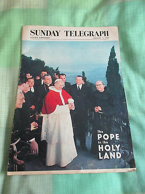 Pope In The Holy Land Sunday Telegraph Colour Mag.  12-01-64. 25% Marie Curie.
