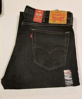 6a276a9ded3 Levis 505 Mens Jeans Regular Fit Straight Leg 38 by 30 New With Tags blue