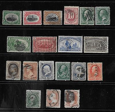 United States Stamps = Estate Selection Early Us - As Is With Faults = (19) Used