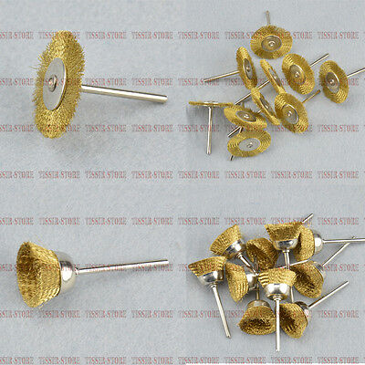 25mm&38mm Brass Wire brushes Wheel/Cup For Rotary Tools select size&quantity