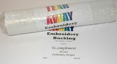 Starlite Tear Away Embroidery Backing / Stabiliser 30cms x 10 metre  A087
