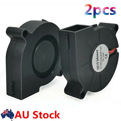 2X Blow Radial Cooling Fan 50mm 12V DC 0.18A Extruder RepRap3D Printer Accessory