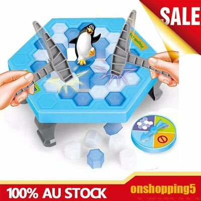 Save the Penguin on Ice Game Break Ice Block Hammer Penguin Trap Party GA