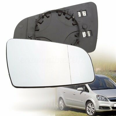 Right Driver Side Electric Wing Door Mirror Glass For Vauxhall Zafira B 05-09