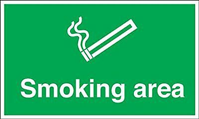 """Signs and Labels AMZMD047AERP """"Smoking Area"""" Mandatory Safety Sign 1.2 mm Rig..."""