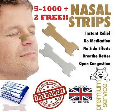 5 -1000 Nasal Nose Sleep strips better breathe Stop Snoring Breath Easier Uk p&p