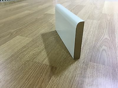 Mdf Skirting Boards White Primed Bullnose 18Mm X 70Mm X 4200Mm