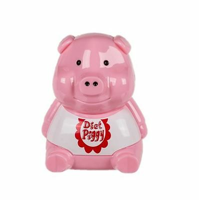 Diet Piggy Pig Fridge Adult Alert Sound Light Sensor Funny Gift