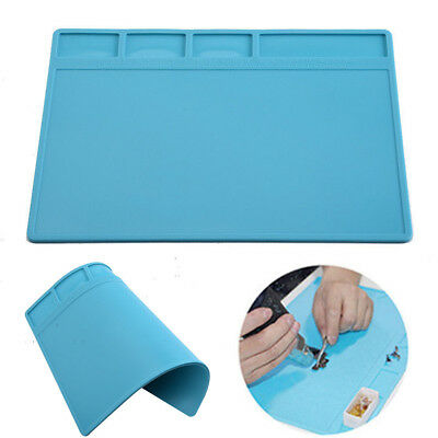 Silicone Heat Insulation Pad Mat Electrical Welding Maintenance Platform 28x20cm