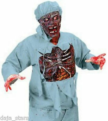 ★ Zombie Horror Arzt  3D Chirurg Doktor, Walking Dead Kostüm ,Maske S-XL Surgeon