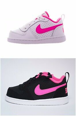 Nike Trainers - Nike Court Borough Low TD Kids Shoes Baby Girls