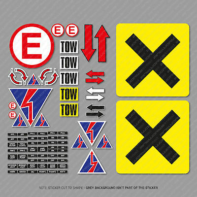 MSA Scrutineer Safety Decal Stickers Sheet Race, Rally and Track Day - SKU4000