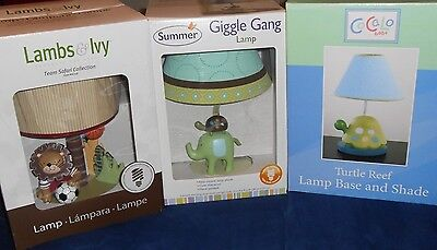 Baby Lamps (Summer Giggle Gang, Lambs&Ivy Team Safari Collection&Cocalo Baby)