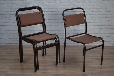 Vintage Industrial 'Nest-A-Bye' Stacking Cafe Bar Dining Chairs (20 AVAILABLE)