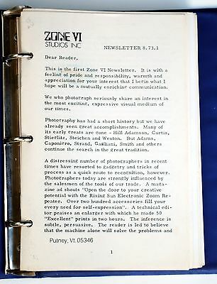 Zone VI Studios Newsletter Collection - Most Issues Aug 1973 to March 1993