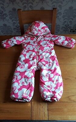 Next Girls Pink & White Floral Snowsuit - Age 2-3 Years. Beautiful!