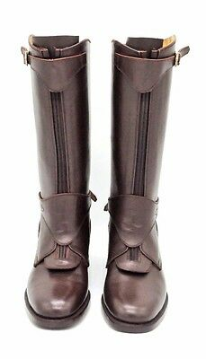 Dark Brown Handmade Leather Riding Boots Men Boots for Horse Riding Polo Boots
