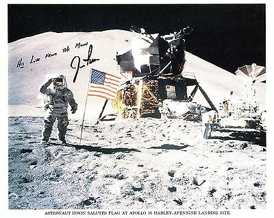 Astronaut Archives Offers Jim Irwin Signed Apollo 15 Lunar Litho Unpersonalized!