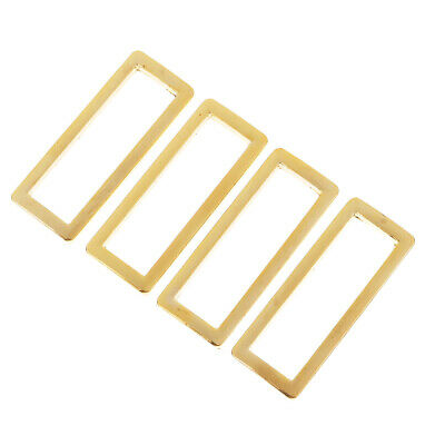 4Pcs Metal Wire Formed Rectangle Ring Loops Square Dee Rings Buckle for Webbing